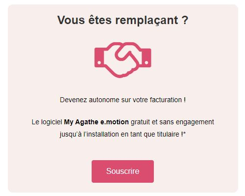 offre remplaçant - logiciel my agathe