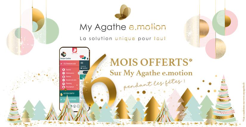 Offre de noël 2020 - 6 mois offerts sur My Agathe e.motion