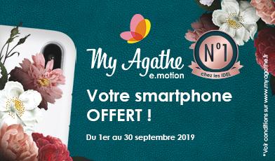 Votre smartphone offert avec My Agathe e.motion