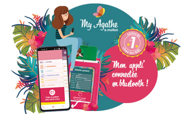 Appli My Agathe e.motion connectée en bluetooth