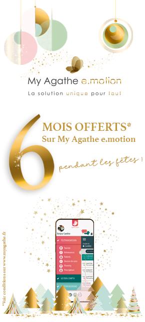 Offre de Noël 6 mois offerts sur My Agathe e.motion