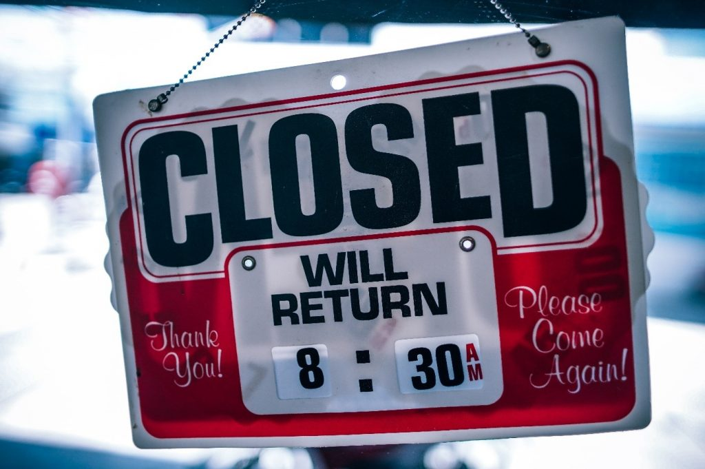pancarte fermé
