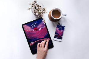tablette et smartphone