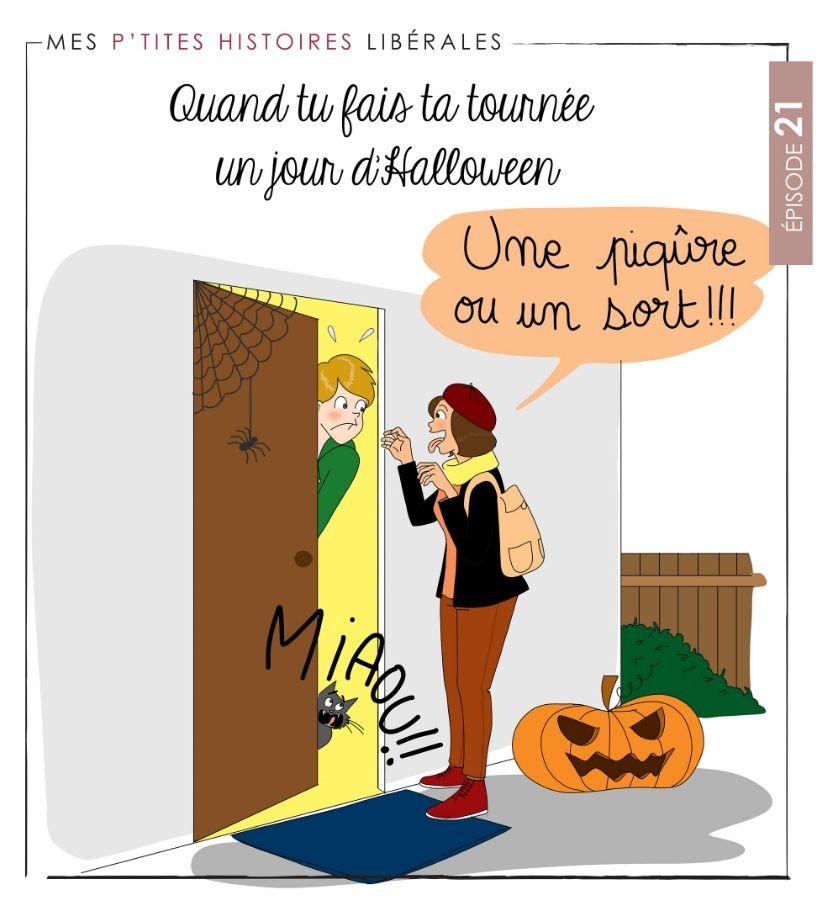 infirmière libérale tournée d'halloween