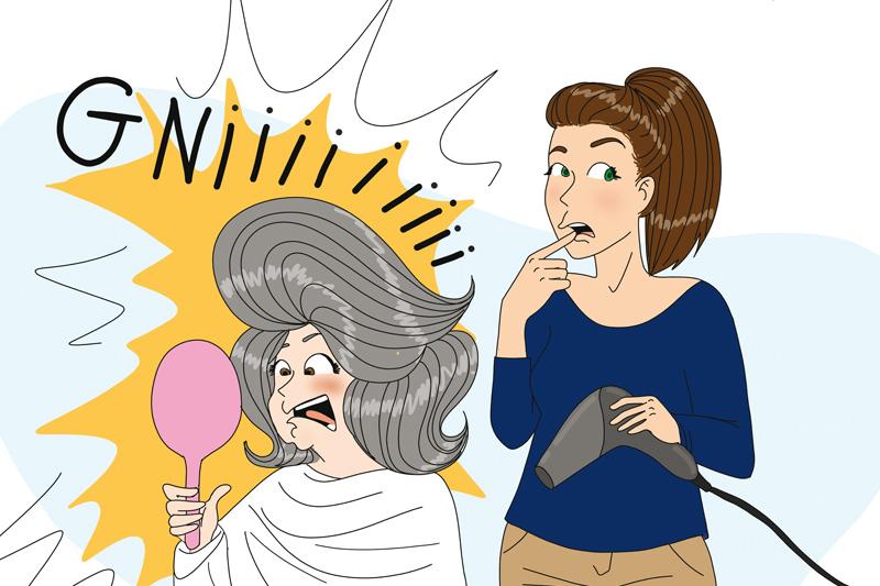 IDEL et coiffeuse éphémère chez les patients