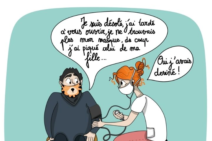 Quand tes patients portent le masque…
