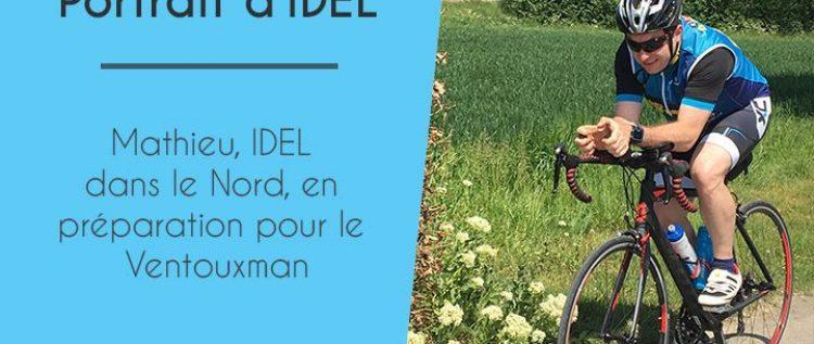 Mathieu, IDEL dans le Nord, en préparation pour le Ventouxman